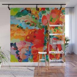 color bubble storm Wall Mural