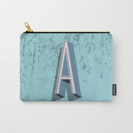 Block A in Blue and Pink Carry-All Pouch