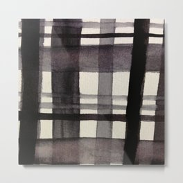 Painterly Plaid Metal Print