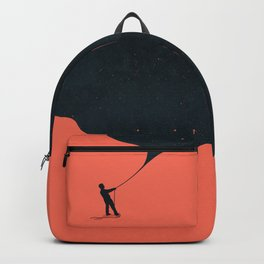 Night fills up the sky Backpack
