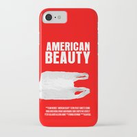american beauty iPhone & iPod Cases featuring American Beauty Movie Poster by FunnyFaceArt