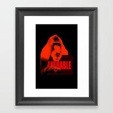 Vulnerable Mandrill Framed Art Print
