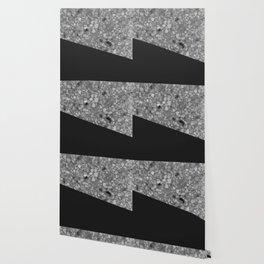 Terrazzo Texture Grey Black #7 Wallpaper