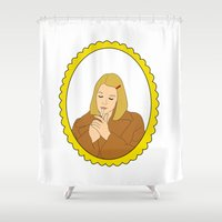 tenenbaum Shower Curtains featuring Margot Tenenbaum by Whiteland