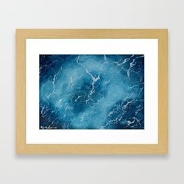 Sea Surface | Watercolor Painting Framed Art Print
