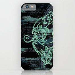 Abstract Tribal Turtles iPhone Case