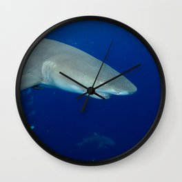 Deep Blue Lemon Wall Clock