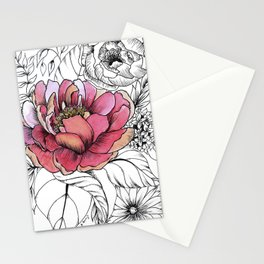 Painted Peony Garden Stationery Cards
