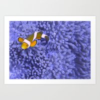 nemo Art Prints featuring Nemo by Anika Wilson