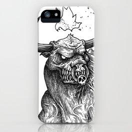 HELL'S ZODIAC - TAURUS iPhone Case
