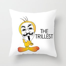 Trill Tweets Throw Pillow