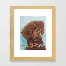Animal Optics Red Fog Framed Art Print