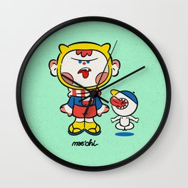 Monster Kid & Little Mouth Wall Clock