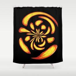 Dancing fire balls Shower Curtain