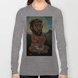 Baby Jesus Having A Smoke Break Long Sleeve T-shirt