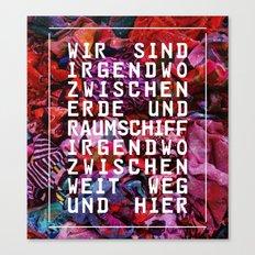 GLÜCK & BENZIN Canvas Print