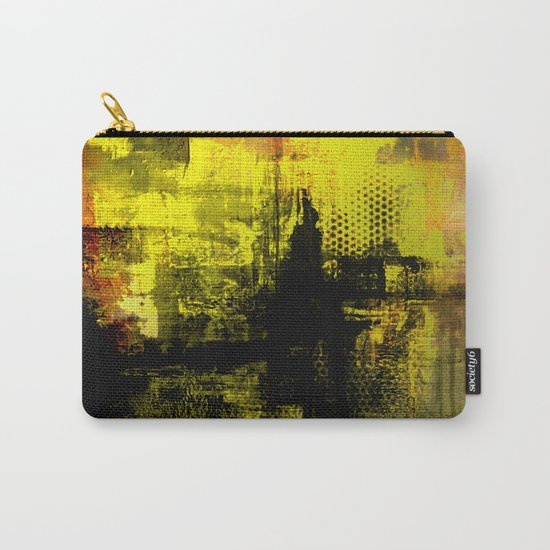 Sail Away - Abstract painting of a boat sailing into the horizon Carry-All Pouch