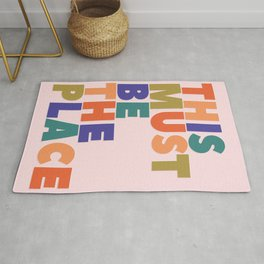 This Must Be The Place - colorful type Rug