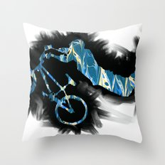 show bicycle Throw Pillow