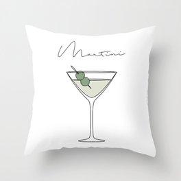 Martini Throw Pillow