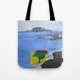 Lego Beach Acrylics Impressionist Fine Art Tote Bag