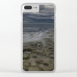 Storm Drama at Swami's Reef. Clear iPhone Case