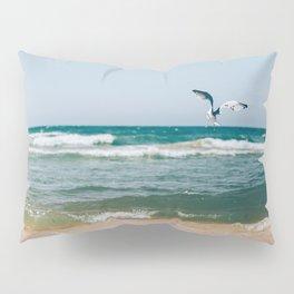 Gull Flight Over Lake Michigan Pillow Sham