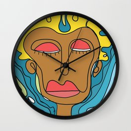 Colored Scribbles of the mind Wall Clock
