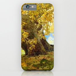 Sycamore in Autumn, Orange County Park Landscape by Edgar Alwin Payne iPhone Case