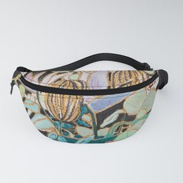 Dark Floral Still Life with Banksia Pods and Tigers Fanny Pack