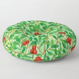 William Morris Lychee Tree Pattern, Light Jade Green Floor Pillow