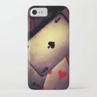 poker iPhone & iPod Cases featuring Poker  by    Amy Anderson