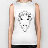 buffalo Biker Tanks featuring Buffalo by Carolina Bell