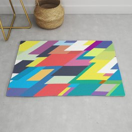 Layers Triangle Geometric Pattern Rug