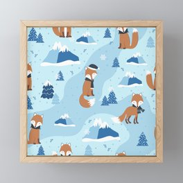 Cute Artic Fox Framed Mini Art Print