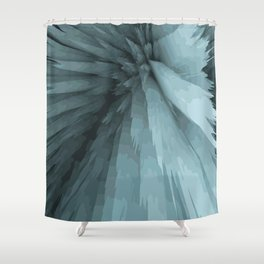turquoise fields Shower Curtain