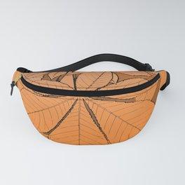 Orange chestnut leaf ornament Fanny Pack