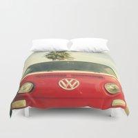 vans Duvet Covers featuring VW Coastin' by RichCaspian
