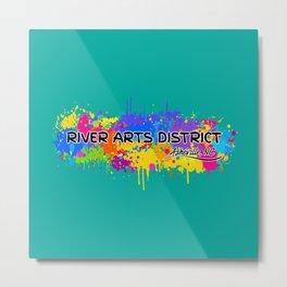 River Arts District - Asheville - AVL 17 Green Metal Print