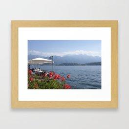 Panoramic view of Lake Como, Italy. Framed Art Print