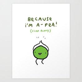 Happy Pea Art Print