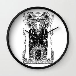 Ritual of Capricorn Wall Clock