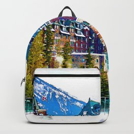 Castle in the Mountains - Banff Alberta Canada Backpack