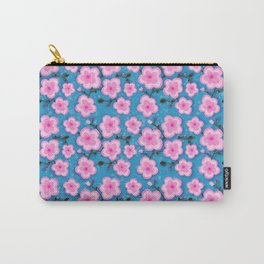 Double Cherry Blossoms  Carry-All Pouch