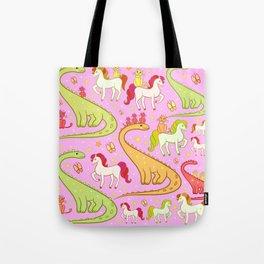 dinosaur horse cat Tote Bag