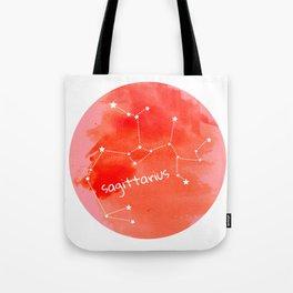 Watercolor Sagittarius Constellation Tote Bag