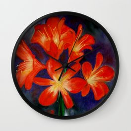 Cheerful clivia Wall Clock