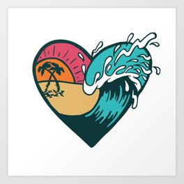 Wave Heart Art Print