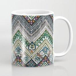 beaded chevron platinum Coffee Mug