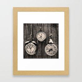 Vintage Clocks Framed Art Print